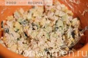 Salada de Frango, Queijo e Milho
