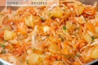 Dārzeņu sautējums ar kāpostiem un kartupeļiem