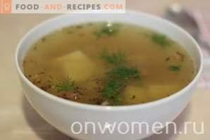 Kartoffelsuppe mit Lammfleisch in einem langsamen Kocher