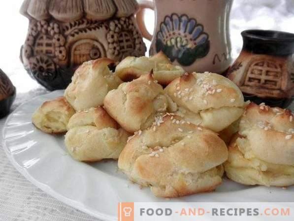 Profiteroles mit Kartoffel-Käse-Füllung
