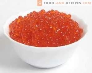 Caviar vermelho: benefício e dano