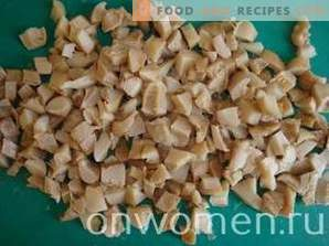 Hähnchen-Pilz-Maissalat