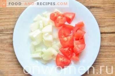 Гъбен сос с домати и маслини
