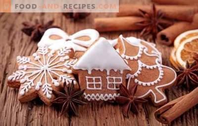 Lebkuchen mit Zuckerguss - eine festliche Note! Gemalter Lebkuchen mit Glasur: Eiweiß, Schokolade, Zucker