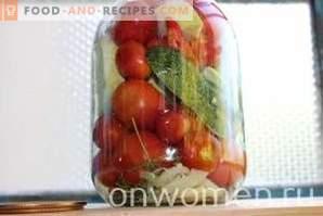 Избрани за зимата краставици и домати и чушки и тиквички