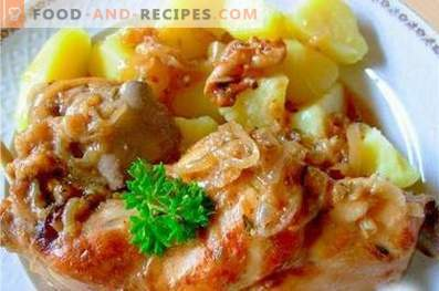 Заек, задушен с картофи в бавен котлон