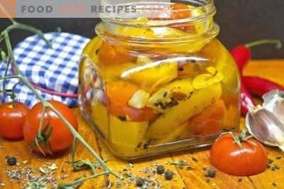 Yellow Pepper Confi met Cherry Tomatoes